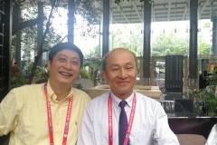陳昭宇主任(右)與重慶西南医院楊柳教授(左)